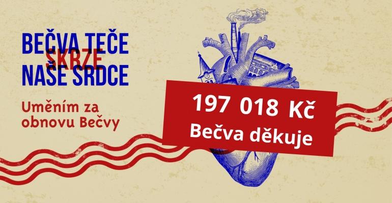 Umělci na obnovu Bečvy vybrali 197018 Kč