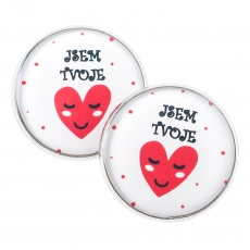 Large Stud Earrings - Love - I am yours
