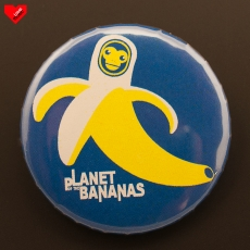 Odznak 32 mm - Planet of Bananas